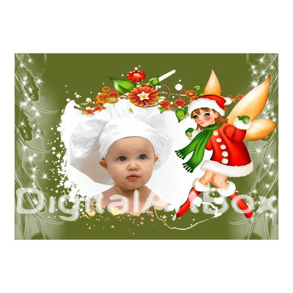 Custom Photo Christmas Cardname gift Baby's First by DigitalArtBox