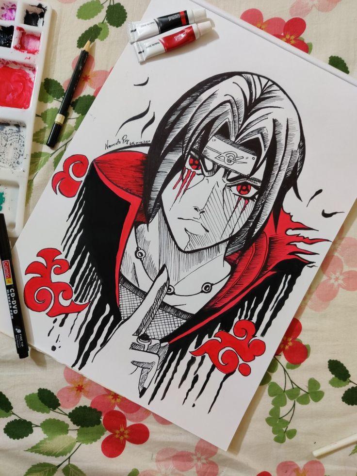 Uchiha Itachi Painting By Namrata Anime Sketch Painting Sketches