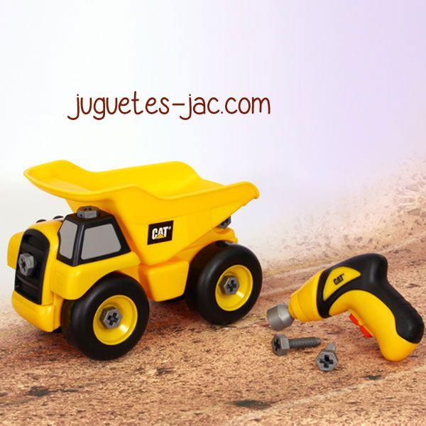 Camión Volquete desmontable con maquina que atornilla en dos direcciones. Monta y desmonta tú camión.