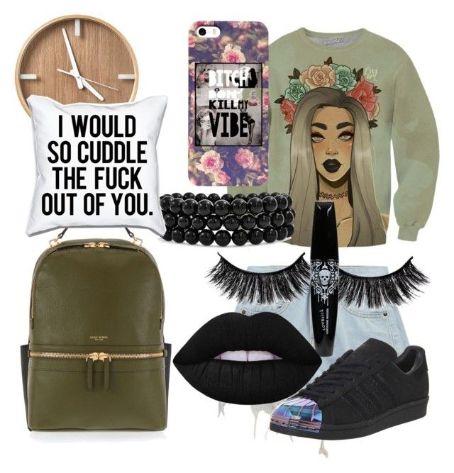"""""""Emo meets 2016"""" by youngswag508 ❤ liked on Polyvore featuring Chicnova Fashion, adidas, Henri Bendel, Lime Crime and Bling Jewelry"""
