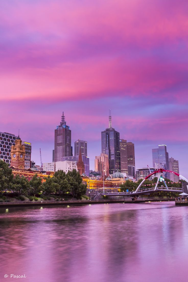Pink Skyline - Melbourne, Australia.