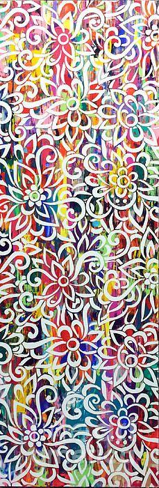 """Flora"" by Sean Christopher Ward 36""x12""x1.5"" Acrylic, 2015 $800"