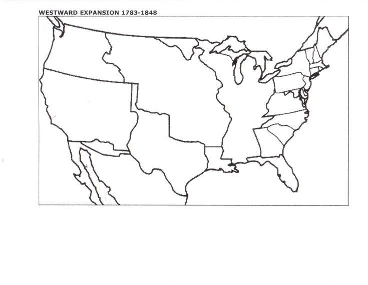 Best Westward Expansion Images On Pinterest Westward - Map of the us before westward expansion