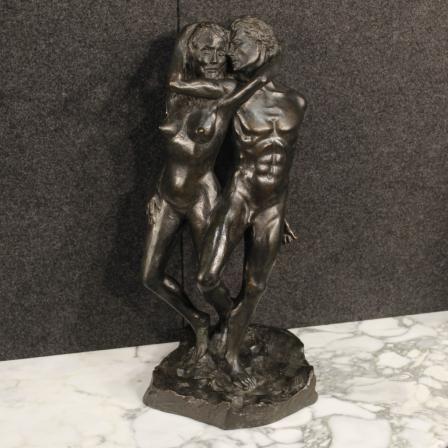 1100€ Italian signed sculpture in bronze depicting Lovers. Visit our website www.parino.it #antiques #antiquariato #art #antiquities #antiquario #metallo #sculpture #statue #metal #decorative #interiordesign #homedecoration #antiqueshop #antiquestore #bronze #lovers #nude