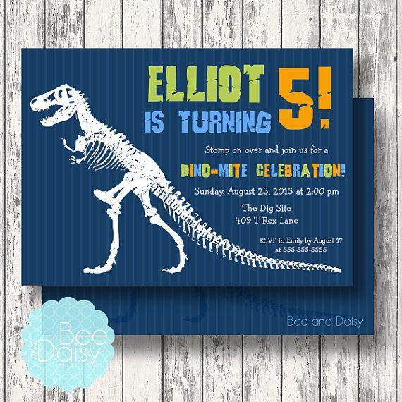 Dinosaur Invitation, Dinosaur Birthday Invitation ...