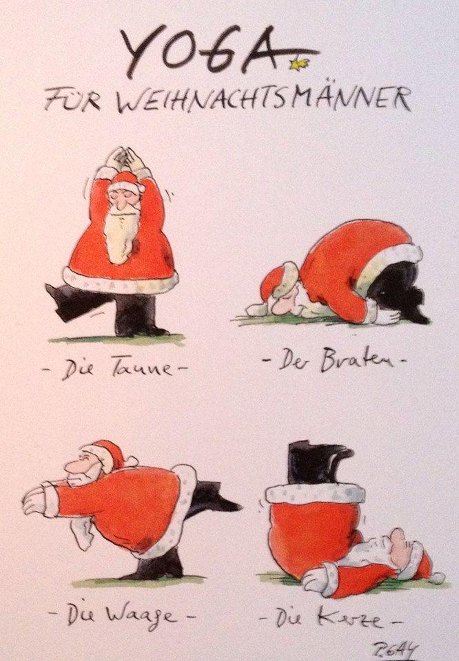 Wie der Weihnachtsmann den Weihnachtsstress übersteht ;) #yoga #weihnachten #fun #weihnachtsmann #xmas #christmas #santaclaus