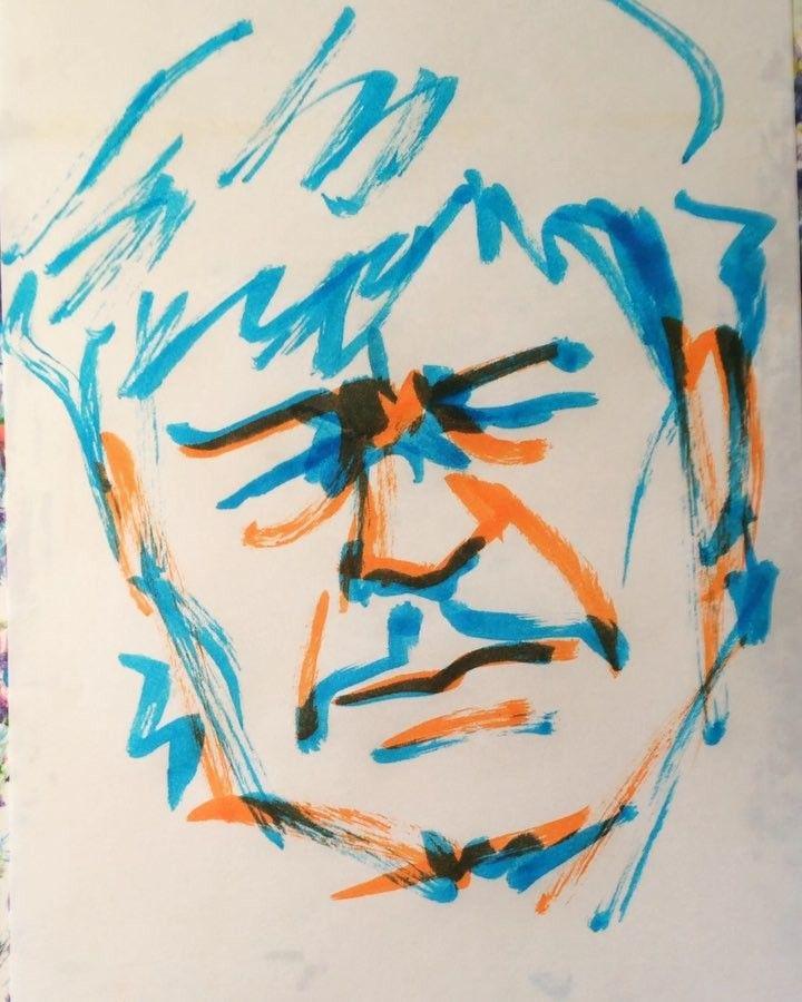 いいね!32件、コメント2件 ― @1mindrawのInstagramアカウント: 「#charlesbronson #チャールズブロンソン #actor #俳優 #マンダム #19211103 #birthday #1mindraw #一分描画 #誕生日 #portrait…」