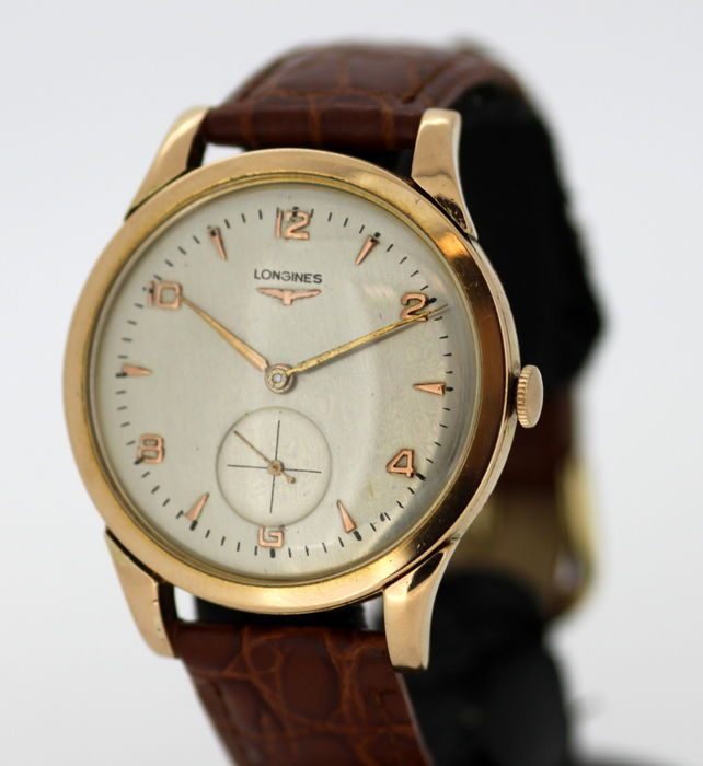 Currently at the #Catawiki auctions: Longines - Vintage 18K Solid Gold Manual Winding Wristwatch