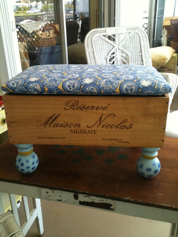 Vintage French Wine Crate Foot Stool Storage by Littlerubys $250.00 & 53 best Put up your feet images on Pinterest | Foot stools DIY ... islam-shia.org