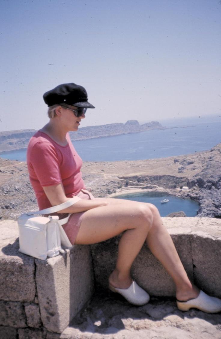 My mom looking cool early 70's in Turkey I believe