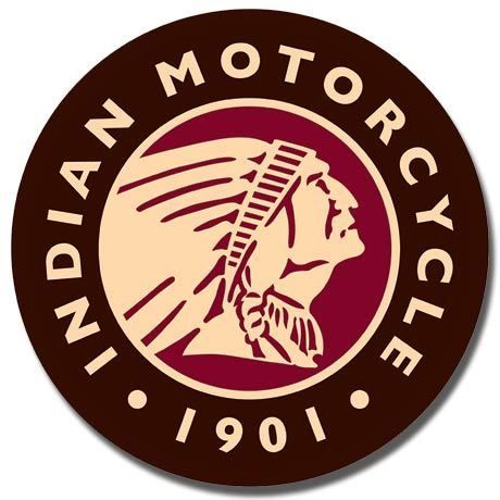 Indian Motorcycles 1901 Round Logo Sign