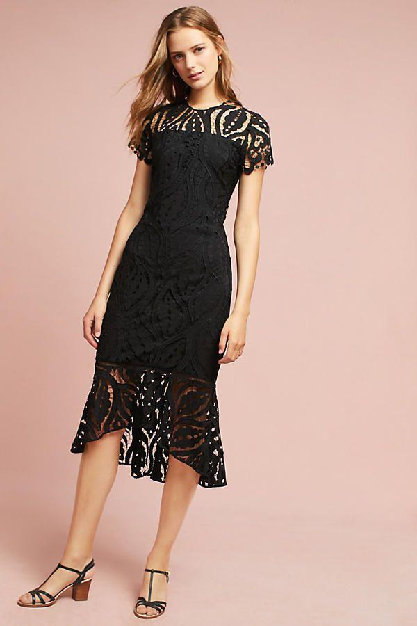 2c956812229 NEW Anthropologie Shoshanna Gruss Zinnia Black Lace Dress Sz 10 NWT   Shoshanna
