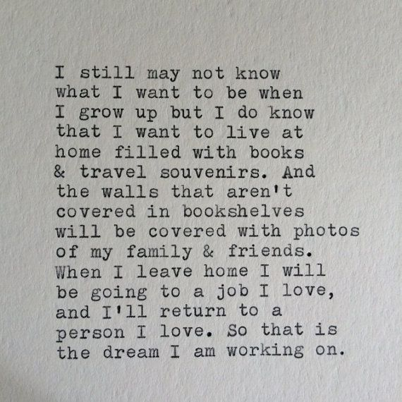 Love and Travel Typewriter Quote / Handtyped On by WhiteCellarDoor, $10.00 This is the EXACT life I want