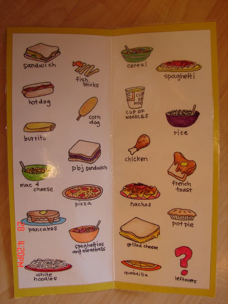 kids lunch menu- great idea to give them choices.