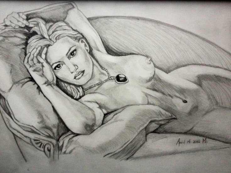 Nude titanic drawing winslet kate