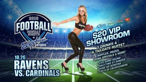Tonight @SapphireLV Call/Text 702.516.8852 for VIP reservations & free limo ride. #mnf #nfl #vegas #nightlife #guestlist #vip #thestrip #football #ravens #cardinals #mondaynight