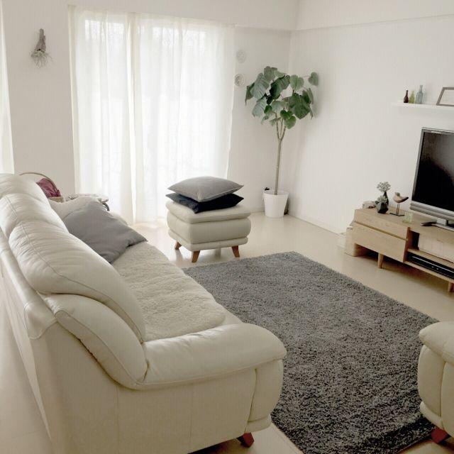 rinさんの、Lounge,観葉植物,無印良品,ダイソー,ナチュラル,IKEA,雑貨,カーテン,100均,北欧,ニトリ,セリア,いつもいる場所についての部屋写真