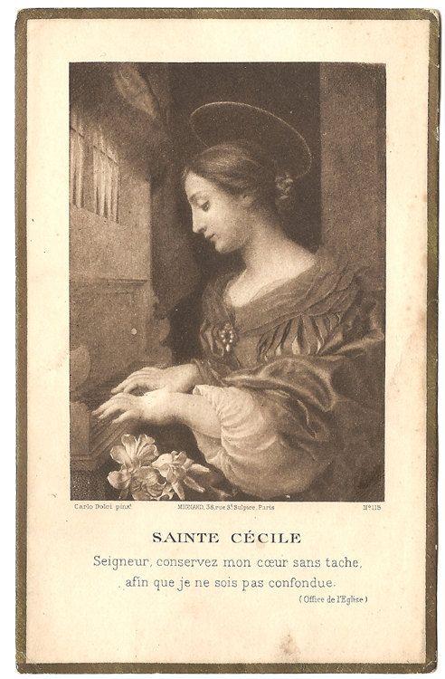 St. Cecilia Patron Saint of Musicians Vintage by 12StarsVintage