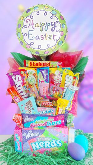 10 best easter gift images on pinterest easter baskets easter exclusive to send candy flowers this one of a kind easter basket is fun colorful and it sure does bring the smilesthe kids love them negle Image collections
