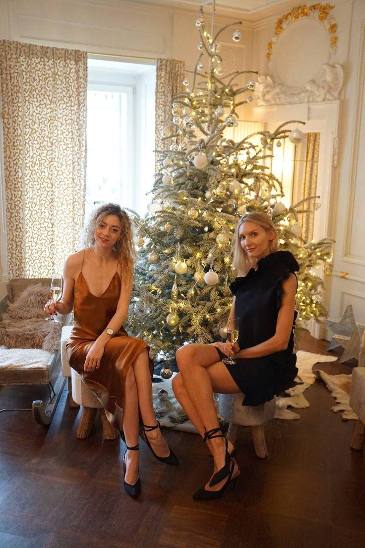 Elegante Weihnachten in Luzern. Kleider von MSGM und Walk of Shame Moskau. Schuhe von Alexa Chung. Fotografiert im Hotel des Balances Luzern.