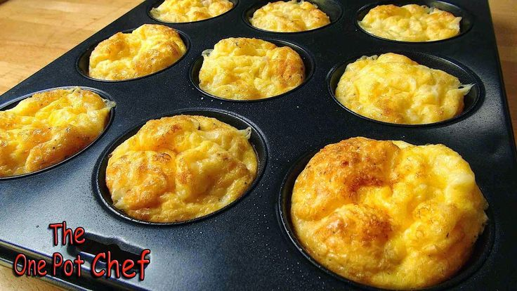 The One Pot Chef Show: Oven Baked Mini Omelettes - RECIPE