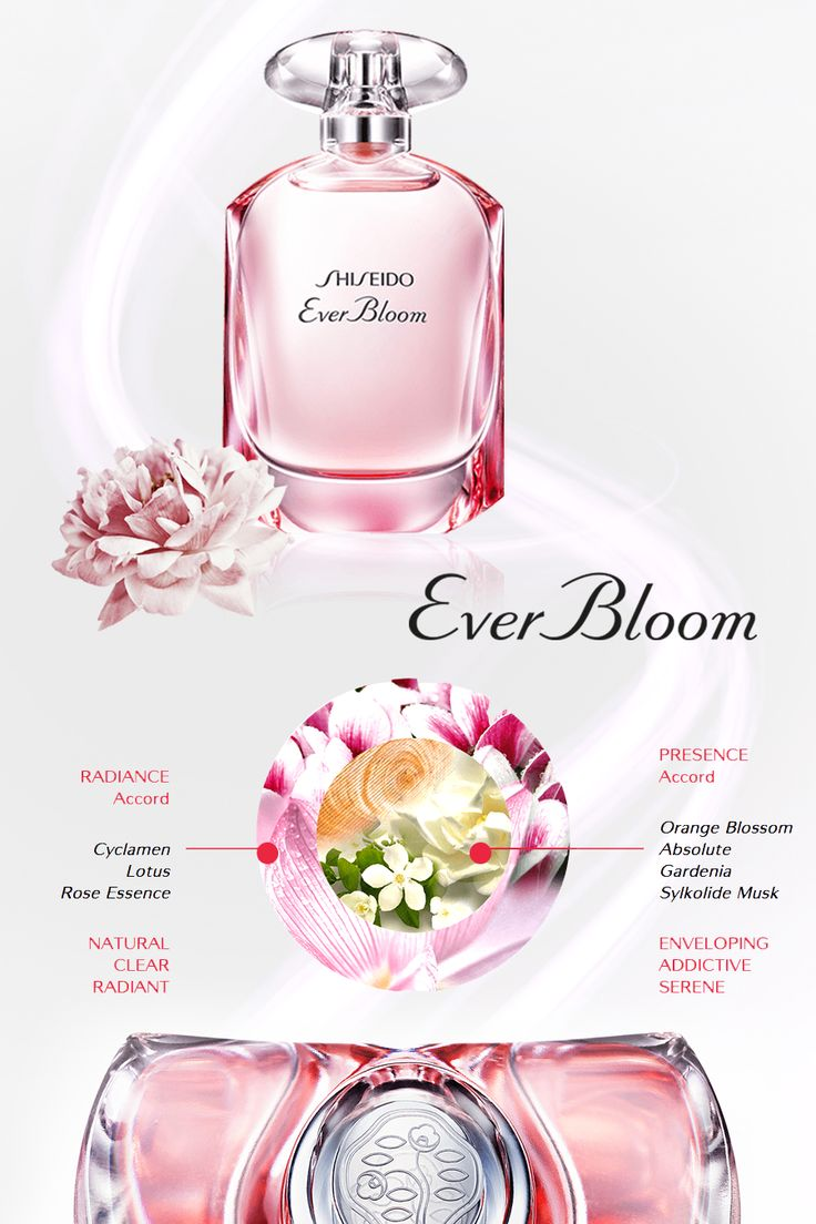 Sylkolide Musk in 'Ever Bloom' (Shiseido, 2015) by Aurelien Guichard. Its 'Presence' accord is attractive and sensual, and contains orange blossom, gardenia, hinoki wood and the musk Sylkolide. This is surrounded by a radiant, fresh and vivid 'Aura' accord made of violet, cyclamen, rose and lotus.