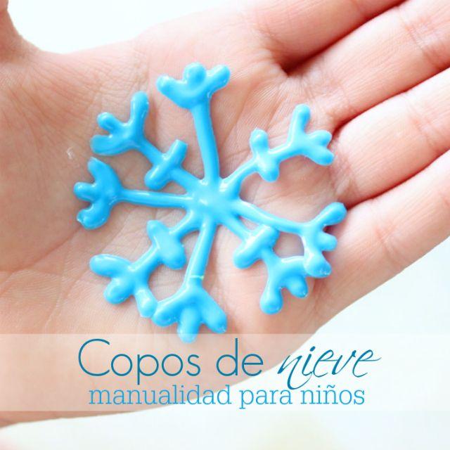 Copos de nieve: manualidad para niños   #Artividades