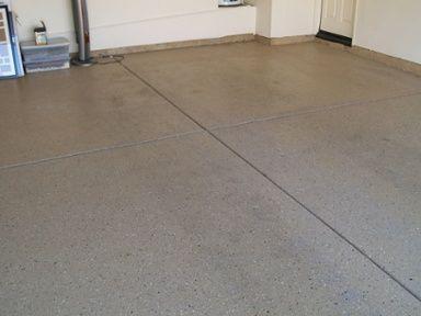 garage floor coating project