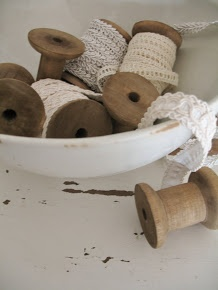 Great use for old wooden spools