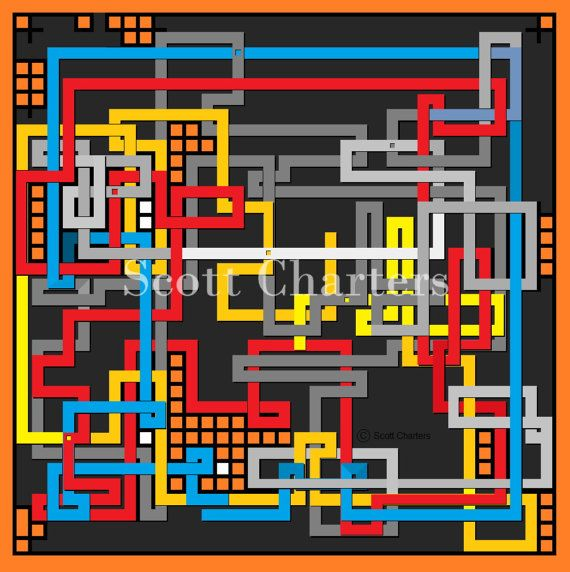 Downloadable Maze Art Print Just Passing Through by ScottLCharters