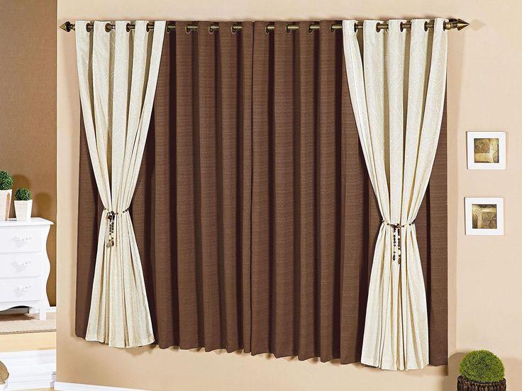 Cortinas para la sala cortina ojillos for Cortinas decorativas para puertas