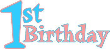 images of myspace baby,s first birthday clipart | Happy First Birthday Clip Art