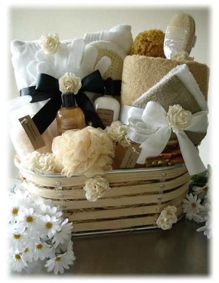 How to Make a Spa Themed Gift Basket          There are many variations to making a spa-themed basket, and a self-designed custom basket for someone special can be created easily and inexpensively or with a bit more effort and money. The latter is best put together when more than one person or family is contributing to it financially. Either wa...     http://guidetocreatingspaproducts.blogspot.com/