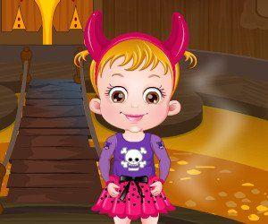Baby Hazel visits Halloween castle on eve of Halloween Day, http://www.babyhazelworld.com/game/baby-hazel-halloween-castle