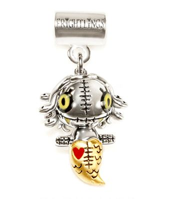 Medusa Gorgonling Silver Slider Charm with 14ct white gold plating and hand painted enamel touches. £63 inc Medusa's poem, branded packaging and standard UK delivery.  5mm hole fits most high street snake style chains.