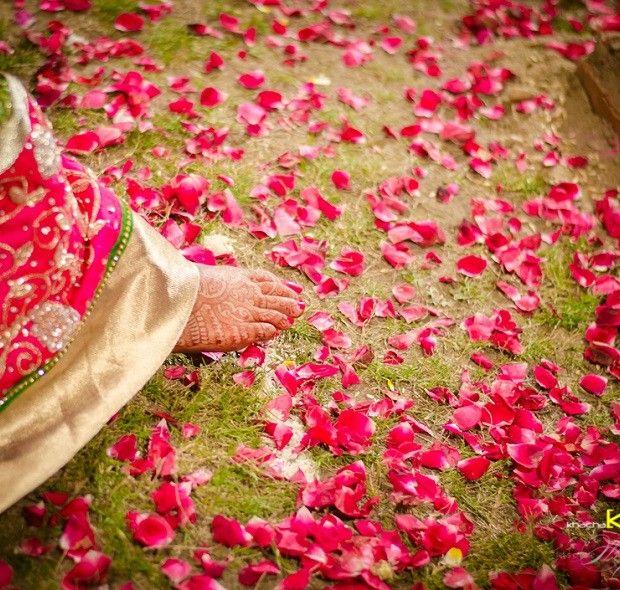Beautiful flower petals Udaipur wedding
