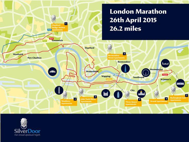 The London Marathon Serviced Apartment Map