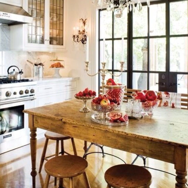 60 Best French Country Kitchens: Backsplash And Cabinet