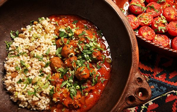 Recipe: North African meatballs (boulettes) || Photo: Fred R. Conrad/The New York Times