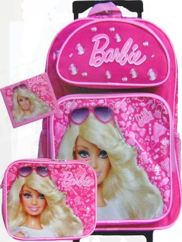 New Barbie Rolling Backpack Matching Lunch Box and Wallet Set by ...