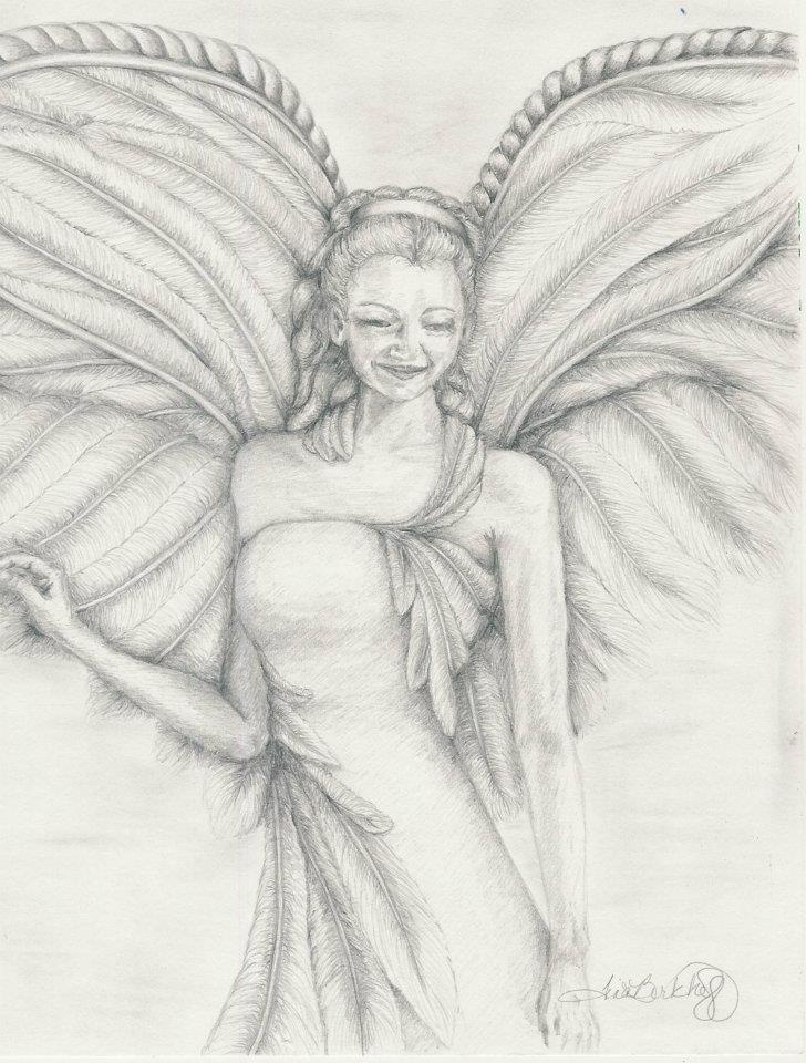 Child angel drawings in pencil bing images