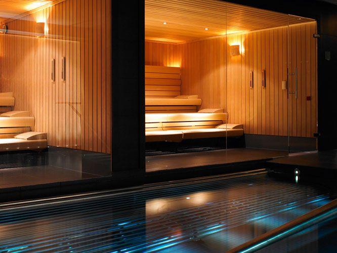 The sauna in the Spa by ESPA at Gleneagles