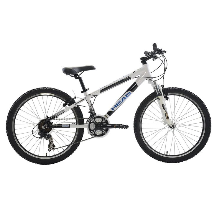 Head Beyond Mountain Bike, 24 inch wheels, 12 inch frame, Boy's Bike, White with Blue