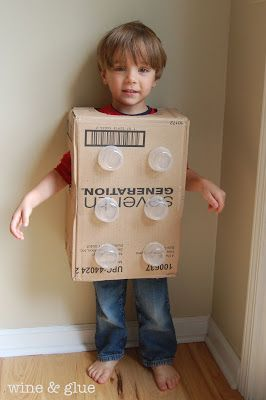 DIY Lego Costume!  Small effort, big impact!! via www.WineandGlue.com