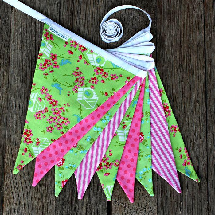 Greta Bunting Pink & Green