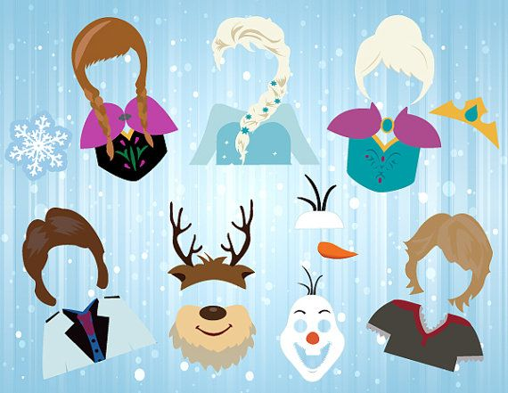 Instant Download Frozen Photo Booth Props Disney by OneStopDigital