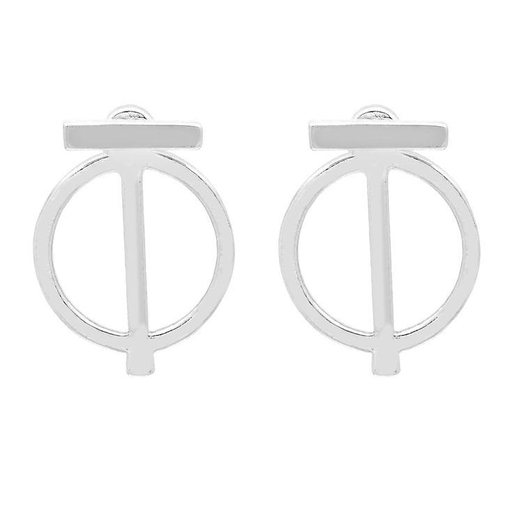 Lilo Ear Jacket in Silver - available in gold and silver. $24. #silverearrings #earjackets #foxyoriginals #silverearjackets #jewelrygift #gift #holidaygift #frontbackearrings