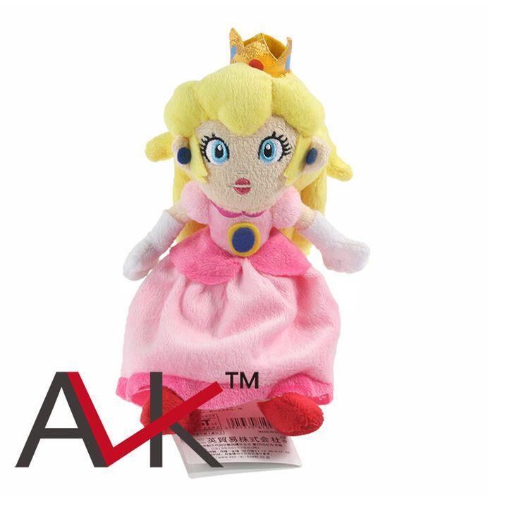 Бесплатная Доставка Super Mario Игры Аниме 22 см Бриджит Сб Принцесса Плюшевые Игрушки Плюшевые Игрушки Куклы