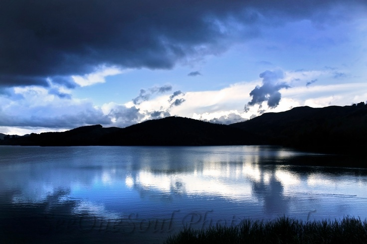 Lake Tutira by SeeOneSoul Photography ... Clouds breaking just before sunset after some much needed rain