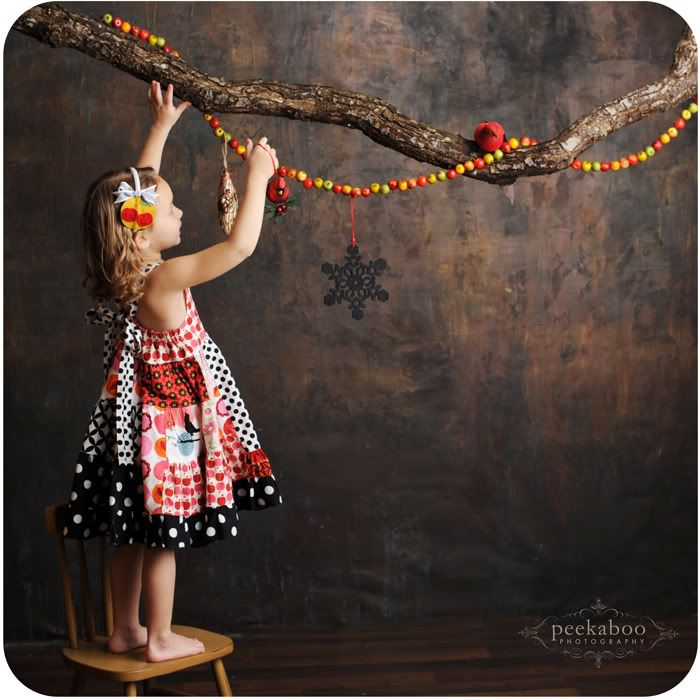 Perfect backdrop & props for holiday photo.  Ideas for family portraits & Christmas cards. Creative twist for annual photo of your kids. DIY keepsakes, decorations, scrapbooking, journaling, photography & party photo booths. tree branches, stars and garland props.